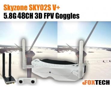 Skyzone V3(SKY02S V+) 5.8G 48CH 3D FPV Goggles-Free Shipping