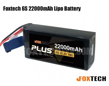 Foxtech 6S 22000mAh Lipo Battery for RC Multicopter/Helicopter/Plane