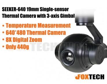 SEEKER-640 19mm Single-sensor Thermal Camera with 3-axis Gimbal (Temperature Measurement Version)
