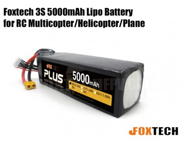 Foxtech 3S 5000mAh Lipo Battery for RC Multicopter/Helicopter/Plane