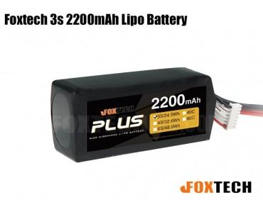 Foxtech 3S 2200mAh Lipo Battery for RC Multicopter/Helicopter/Plane