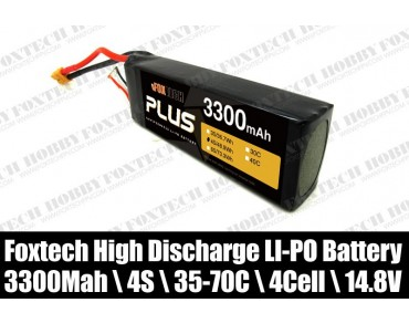 Foxtech 4s 3300mah lipo battery for RC multicopter,helicopter,plane