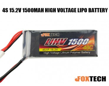Foxtech 4S 15.2V 1500mAh High Voltage Lipo Battery