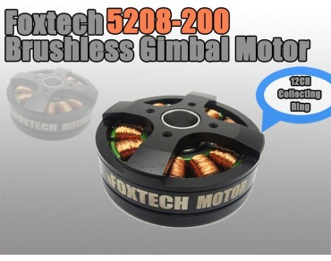 Foxtech 5208-200-12 Brushless Gimbal Motor