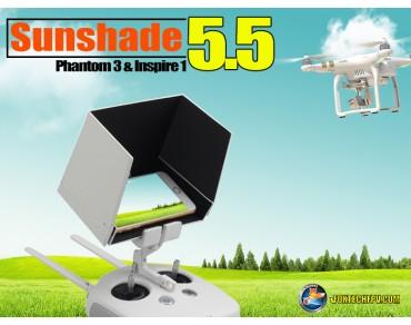 """5.5"""" Sunshade for Inpire1/Phantom3 Remote Smartphone"""