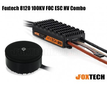 Foxtech 8120 100KV FOC ESC HV Combo-side lead-out