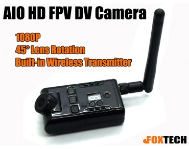 SKY-HD01 AIO 5.8G 1080P HD FPV Wireless Transmitter DV Camera