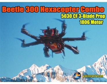 Beetle 300 Hexacopter(CF) 1806 Motor Combo