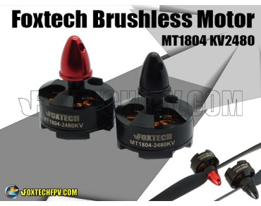 Foxtech Brushless Motor MT1804 KV2480 CW/CCW