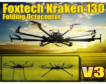 Foxtech K130 V3 Folding Octocopter Frame