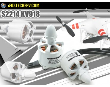 Foxtech Motor S2214 KV918 CW/CCW(One Pair)