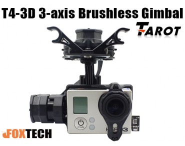 Tarot T4-3D 3-Axis Brushless Gimbal For Gopro Hero3/Hero4(TL3D01/TL3D02)
