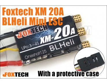 Foxtech XM 20A BLHeli Mini ESC(with protective case)