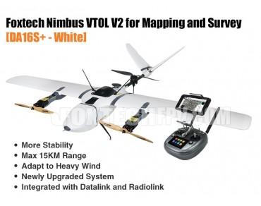 Foxtech Nimbus VTOL V2 for Mapping and Survey(DA16S+ Combo)-White