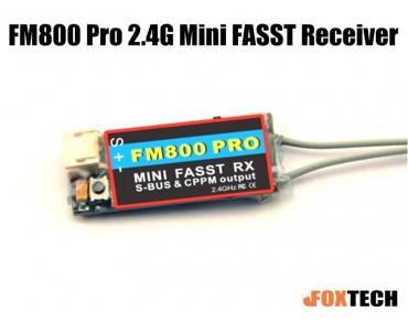 FM800 Pro 2.4G Mini FASST Receiver