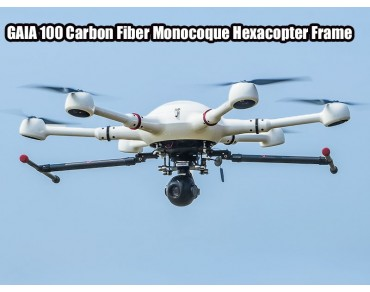 GAIA 100 Carbon Fiber Monocoque Hexacopter Frame