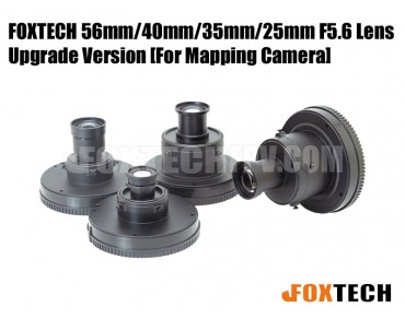 FOXTECH 56mm/40mm/35mm/25mm F5.6 Lens for Mapping Camera-Upgrade Version