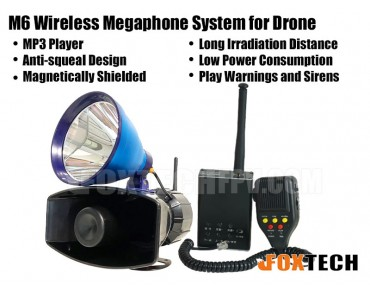 M6 Wireless Megaphone System for Drone