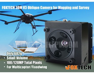 FOXTECH 3DM V3 Oblique Camera for Mapping and Survey