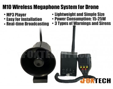 M10 Wireless Megaphone System for Drone