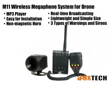 M11 Wireless Megaphone System for Drone
