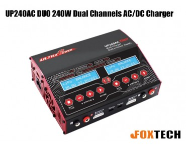 Ultra Power UP240AC DUO 240W Dual Channels AC/DC Charger