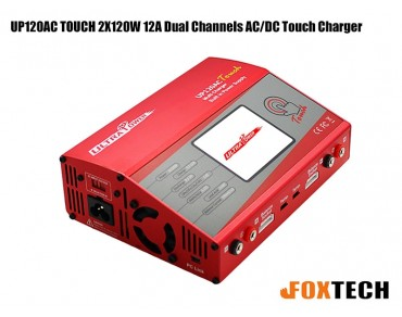 Ultra Power UP120AC TOUCH 2X120W 12A Dual Channels AC/DC Touch Charger