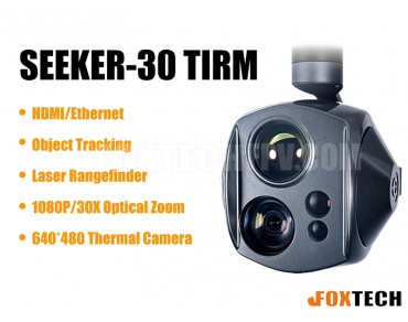 SEEKER-30 TIRM Dual-Sensor Laser Rangefinder 30X Zoom Camera with 3-axis Gimbal