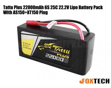 Tattu Plus 22000mAh 6S 25C 22.2V Lipo Battery Pack With AS150+XT150 Plug