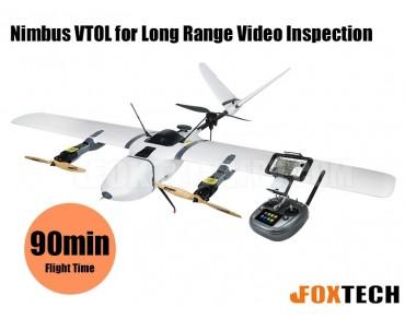 Nimbus VTOL Long Range Video Inspection Version-White-CUAV V5+
