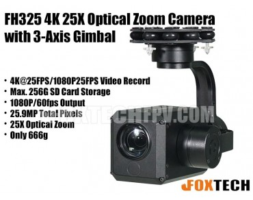 FH325 4K 25X Optical Zoom Camera with 3-Axis Gimbal-Free Shipping