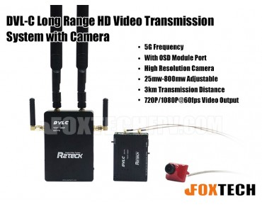 DVL-C Long Range HD Video Transmission System with Camera-Free Shipping