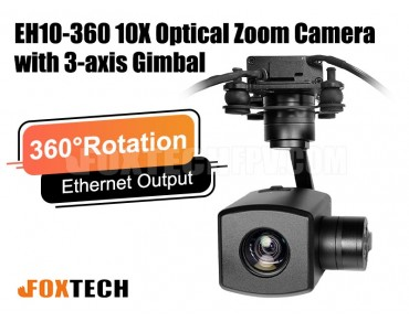EH10-360 10X Optical Zoom Camera with 360 Degrees Rotation 3-axis Gimbal