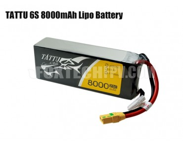 TATTU 6S 8000mAh Lipo Battery