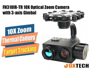 FH310IR-TR 10X Optical Zoom and Thermal Camera with 3-axis Gimbal-HDMI Version