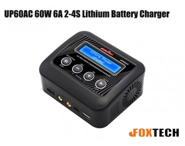 Ultra Power UP60AC 60W 6A 2-4S Lithium Battery Charger