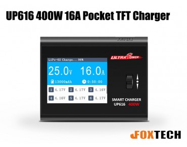 Ultra Power UP616 400W 16A Pocket TFT Charger