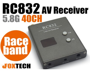 RC832 5.8G 40CH AV Receiver with Raceband