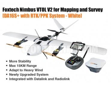 Foxtech Nimbus VTOL V2 with RTK/PPK System-CUAV V5+White