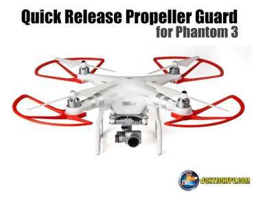 Quick Release Propeller Guard for Phantom 3(Red)