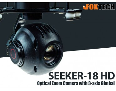 FOXTECH SEEKER-18 HD 18X Optical Zoom Camera with 3-axis Gimbal-Free Shipping