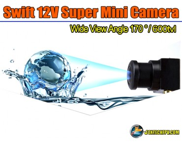 Foxtech Swift 12V Super Mini Camera/600tvl/170 degree Wide View
