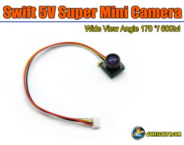 Foxtech Swift 5V Super Mini Camera/600tvl/170 degree Wide View/PAL