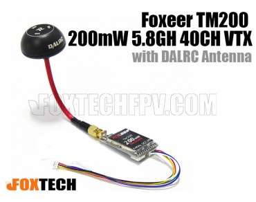 Foxeer TM200 200mW 5.8G 40CH VTX with DALRC Antenna