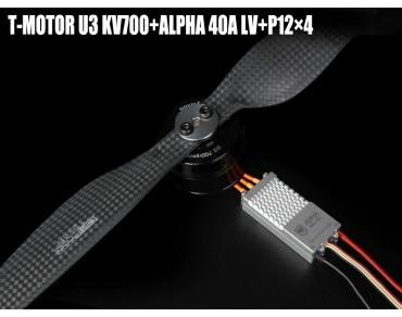 T-MOTOR U3 KV700+ALPHA 40A LV+P12x4