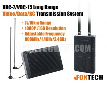 VDC-7/VDC-15 Long Range Video/Data/RC Transmission System-7km(2.4G)