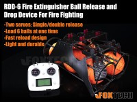 Foxtech RDD-6 Fire Extinguisher Ball Release and Drop Device For Fire Fighting