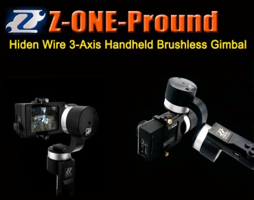 Z-ONE-Pround Highest Version Hiden Wire 3-Axis Handheld Brushless Gimbal for Gopro 3/4