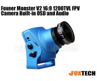 Foxeer Monster V2 16:9 1200TVL FPV Camera Built-in OSD and Audio(Preorder)