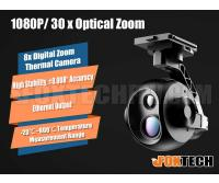 EH640TM Series 30x Optical/14x Zoom IR Thermal Camera with 3-axis Gimbal (Temperature Measuring Version)